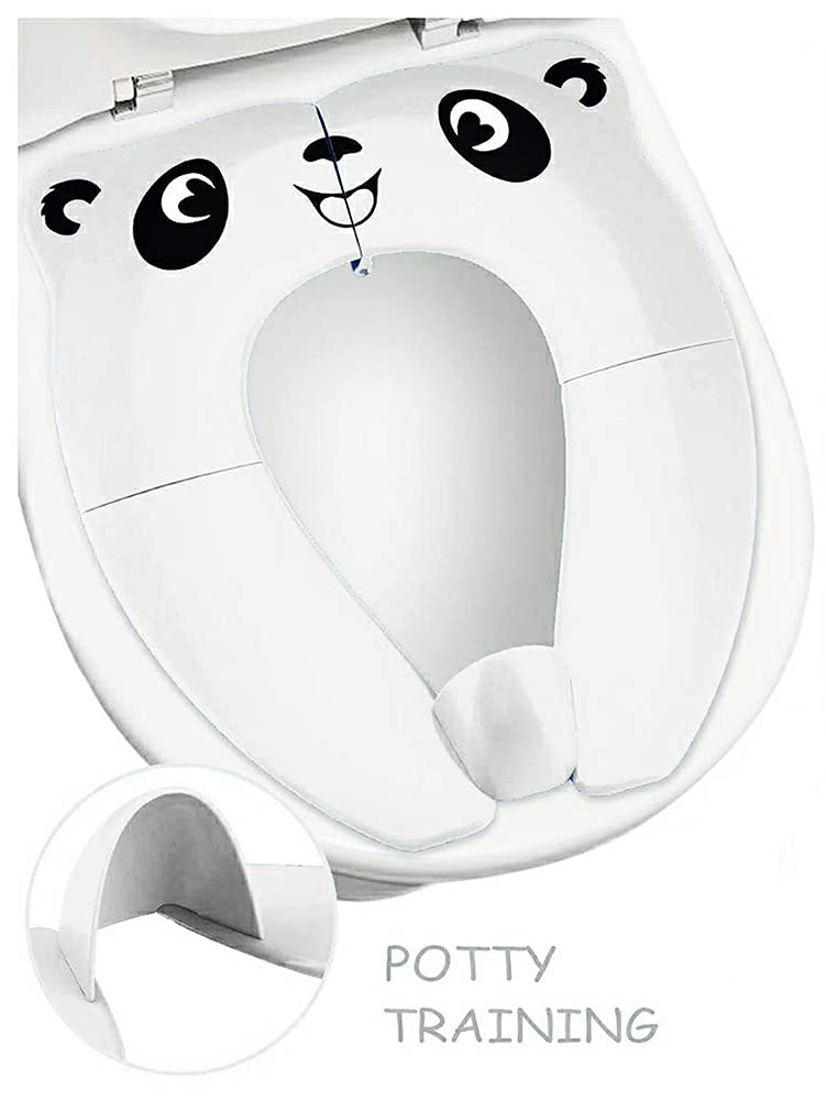 RafaLife Bath Toys - [Upgrade Splash Guard - Stable] Portable Toilet Training Seat for Toddlers, Boys & Girls. Folding Travel Potty Seat. Extra Stable, Powerful and Safe, with Handy Carry Bag (White)