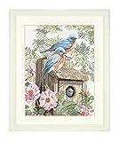 Lanarte Counted Cross Stitch Kit: Garden Bluebirds (Aida,W)