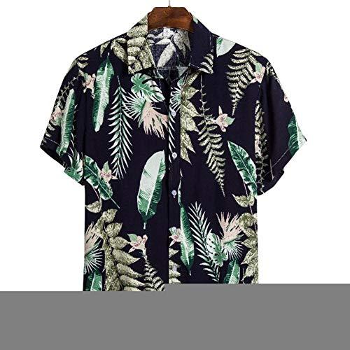 RelaxLife Camisa de Manga Corta para Hombre Camisa Hawaiana para Hombre Camisa Casual para Hombre Camisas De Playa Estampadas para Hombre Manga Corta 3XL