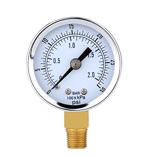 UEETEK Manómetro de Presión para el compresor de aire Agua