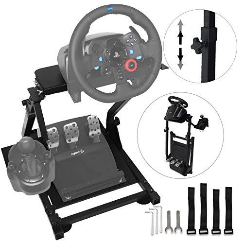 VEVOR G29 Steering Wheel Stand, Simulatore di guida Per Logitech G27 G25 G29 E G920 Volante Con Supporto V2 Supporto Giochi Solo Supporto Ruota E Pedale Non Incluso