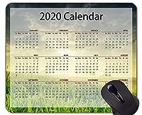 カレンダー2020年ゲーミングマウスパッド、美しい草原をテーマにしたオフィスマウスパッド