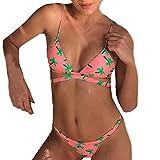 Weiblicher Bikinis,Hmeng Frauen Kokos Druck Push Up Gepolsterte BH Strand Bikini Set Badeanzug...