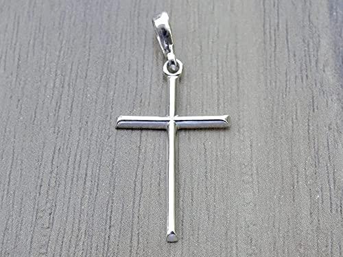 Minimalistisch Kreuz Anhänger Religiöse Sterling Silber 925 Charme Halskette Unisex Schmuck Geschenk