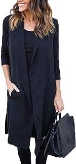 Howme-Women BlazerJacket Sleeveless Lapel Vest Trench Coats Cardigan