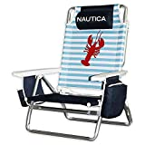 Essex Nautica Jumbo 5-Position Beach Chair in Lobster Stripe