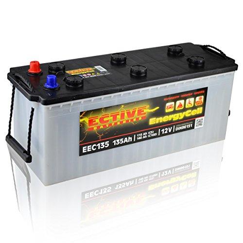 Preisvergleich Produktbild ECTIVE 12V 135Ah Nass Batterie EEC-Serie Solar Versorgungsbatterie in 5 Varianten: 80Ah - 230Ah (wartungsfrei)