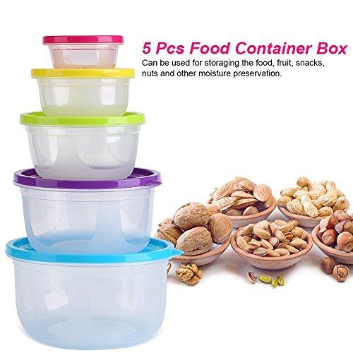 5 Pcs / Set Contenedor de Alimentos, Caja de Almacenamiento de ...