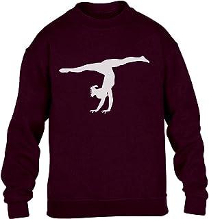 Shirtgeil Silouette ginnasta Idea Regalo Ginnastica Danza - Felpa Bambina Ragazza