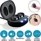 NINI Invisible Einstellbare Sound-Verstärker, Sound-Verstärker mit Rauschunterdrückung Digitale Hörgeräte, wiederaufladbare Ohrenpflege für ältere Menschen Hörgeräte Audio-Verstärker (1 Paar)