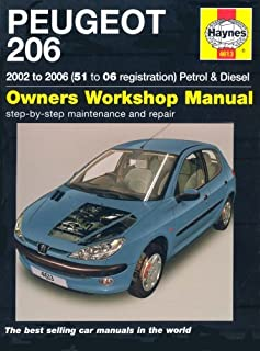By Peter T. Gill Peugeot 206 Petrol and Diesel Service and Repair Manual: 2002 to 2006 (Haynes Service and Repair Man [Hardcover]