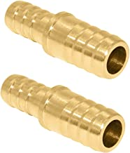 EDGE INDUSTRIAL 3//4 X 3//4 X 1//2 Hose ID Brass Hose Barb TEE SPLICER Fitting Fuel//AIR//Water//Oil//Gas//WOG Qty 1