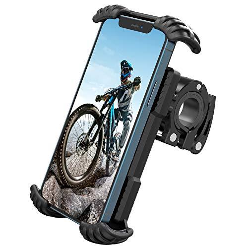 Nulaxy Supporto Telefono Bicicletta,Metallico Supporto Motociclo,Manubrio Supporto da Bici per iPhone 12 11 Pro Max, Xs Max, XR, X, 8, Samsung S21 S20 S10 S9+ e 4.7-6.8 Pollici Smartphones