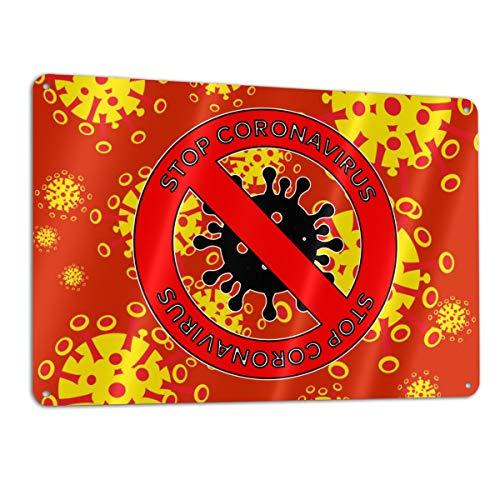 SD3DPrint Stop Coronavirus Seal metlica de aluminio de 30,5 x 20,3 cm