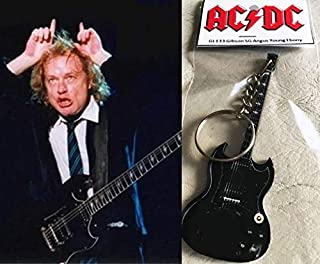Keychain Guitar Gibson Sg Ebony Angus Young AcDc