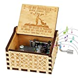 Globalstore Wooden Music Box, Wooderful Life Musical Box Gifts for Birthday/Christmas/Valentine's Day/Thanksgiving Daughter Days Hand-Operated Present Kid Toys