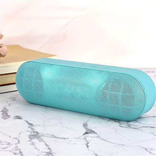 YWS Verde LED al aire libre altavoz Bluetooth subwoofer metal altavoz inalámbrico portátil 3D sonido envolvente música estéreo, con un micrófono FM TFCard Aux