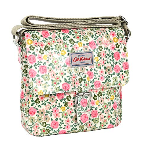 Cath Kidston Satchel Across Body Bag Hedge Row in Soft Warm Cream Oilcloth