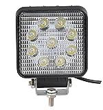 Foco de Trabajo LED 27W 9-32V Faro LED Tractor, Coche, SUV, todoterreno, ATV, Barcos, Vehículos industriales, Iluminación LED 1850 lúmenes