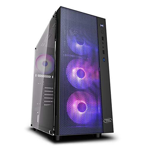 DEEP COOL MATREXX 55 Mesh ADD-RGB 4F, PC Case ATX Compatto, Pannello Frontale in Mesh, 4 ventole A-RGB preinstallate