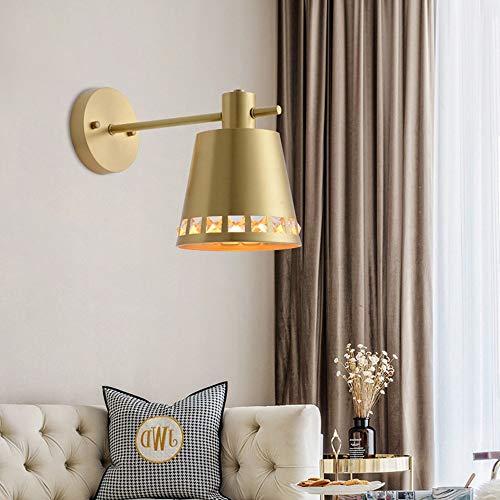 WarmHome Lámpara De Pared Dormitorio De Cobre Completo Lámpara De Cabecera Minimalista Moderno Espejo Faros Sala De Estar Iluminación Creativa De La Pared del Pasillo