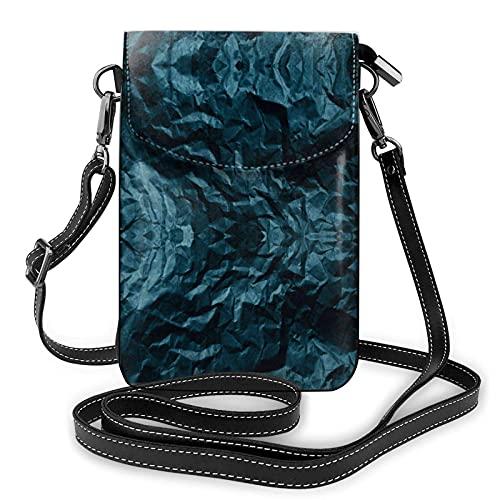 Camo azul gris, bolso impermeable del teléfono, monederos y bolsos ligeros con 2 correas para el hombro para las mujeres