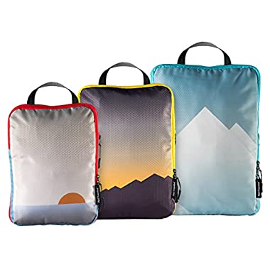 Well Traveled Compression Packing Cubes Set Luggage Organizer Travel Accessories
