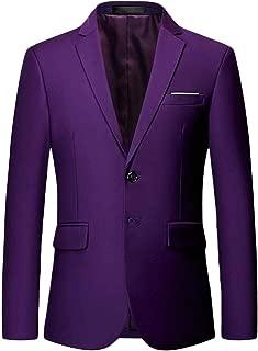 Macondoo Men's Two Button Sport Coat Notched Lapel Casual Blazer Jacket