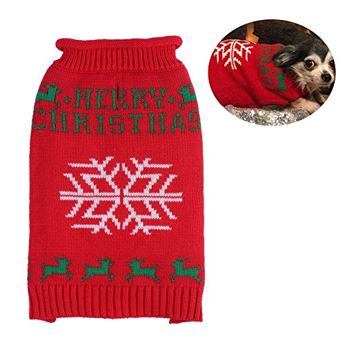 PUPTECK Ugly Christmas Dog Sweater Holiday -...