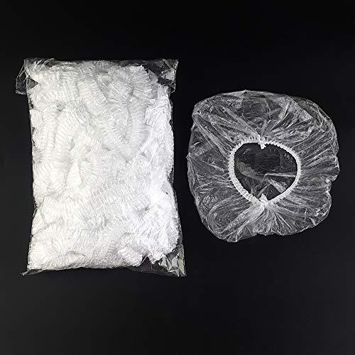 500 Stks wegwerp douchekap hoed waterdichte rook bewijs transparant lang haar kap douchekap