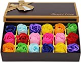 Blingko 18 Stücke Rosen-Duftseifen in Geschenk-Box Blumen Artificial Rose Handgefertigte PP...