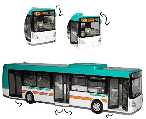 alles-meine.de GmbH Stadtbus / Linienbus Bus - Irisbus Citelis - Auto Modell Maßstab 1/43 - Türen Lassen Sich Öffnen - für Kinder / Deko - zum Spielen aus Plastik / Kunststoff - ..