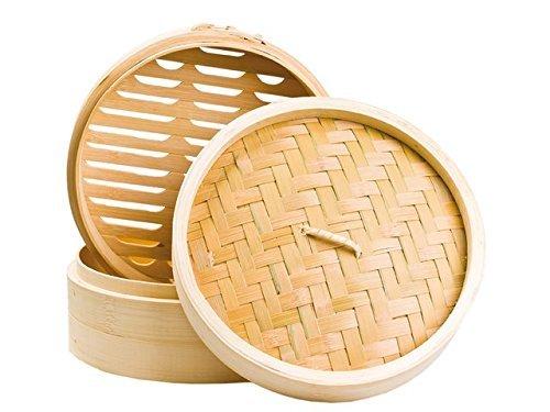 Bambusdämpfer 3-teiliges Set 30,5cm STABILER Bamboo Steamer