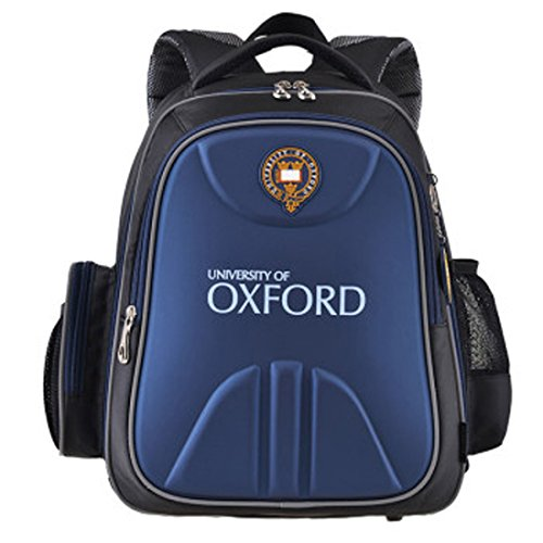 Md 3d Oxford University Spinal Care Orthopedic Children Waterproof Light Reflective Kids School Backpack Bag (Navy)
