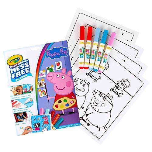 Crayola Peppa Pig Wonder Mess Free Coloring Set, Gift for Kids