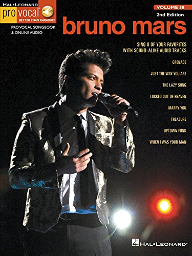 Pro Vocal For Male Singers Volume 58 Bruno Mars + Online Audio Access