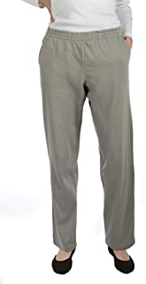 Pembrook Womens Jersey Knit Elastic Waist Pull On Pants Elastic Comfort