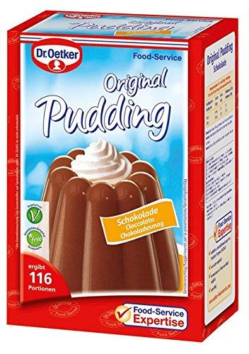 Dr. Oetker Professional Klassischer Pudding Schokolade, Puddingpulver in 0,9 kg Packung