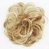 PRETTYSHOP Haarteil Haargummi Hochsteckfrisuren unordentlicher Dutt gewellt VOLUMINÖS blond mix #86Ah613 G30A