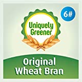 corn bran - Uniquely Greener Wheat Bran (6 Pounds) — Non-GMO, Chemical-Free, All-Natural, Unprocessed Bran from Freshly Stone-Milled Wheat |