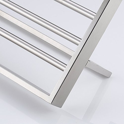 KES Bathroom Lavatory Double Bathroom Shelf Towel Rack Wall Mount, Brushed Stainless Steel, A2510-2