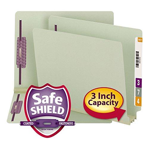 SMD34725-SAFESHIELDREG 가있는 SMEAD 엔드 탭 프레스 보드 패스너 폴더코팅 패스너 기술
