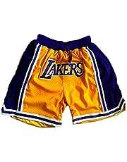 SPORTS Pantaloncini Sportivi da Uomo di Lakers James # 23 Pantaloncini Sportivi da Uomo di Colore Giallo