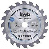 kwb 584557 Lame de scie circulaire en bois dur et bois dur 160 x 20 mm Coupes propres, chiffres moyens, 20 dents Z-20