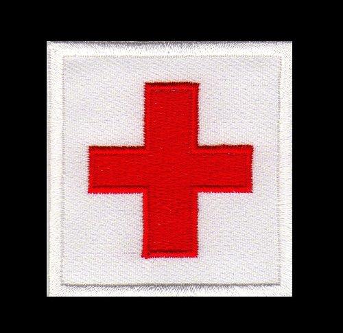 Aufnäher Bügelbild Aufbügler Iron on Patches Applikation RK Rotes Kreuz Krankenschwester