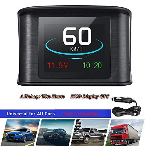 """SWOO CAR 2.6"""" HUD GPS Vision Tête Haute Afficheur Tête Haute Intelligent Numérique LCD Compteur Conduite Vitesse Tension Unique Distance Conduite Distance Totale Temps de Conduite Alarme de Vitesse"""