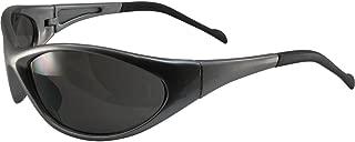Global Vision Reflex Padded Motorcycle Safety Sunglasses Grey Frame Smoke Lens ANSI Z87.1
