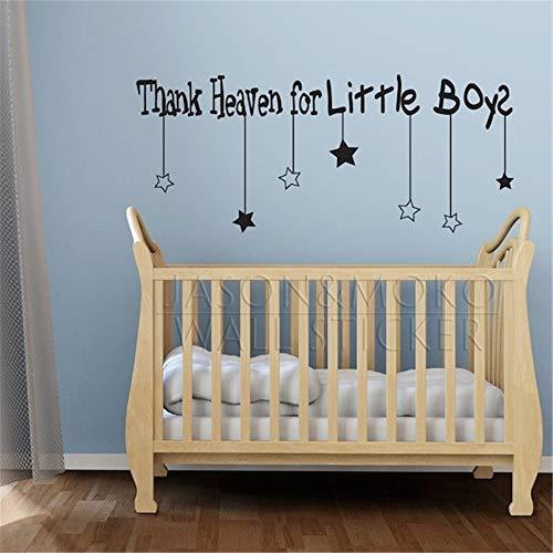 stickers muraux 3d Merci ciel pour les nouveaux garçons nouveaux produits pour les autocollants enfant pour le salon chambre d'enfants chambre de bébé
