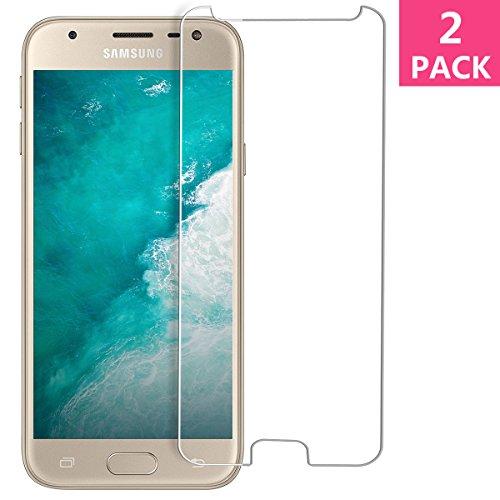 Bigmeda Panzerglas für Samsung Galaxy J3 2017, Schutzfolie für Samsung J3 2017 Panzerglasfolie Gehärtetem 9H Festigkeit Ultra Clear Glas Hartglas Folie Bildschirmschutzfolie für Galaxy J3 2017 - 2 Stück