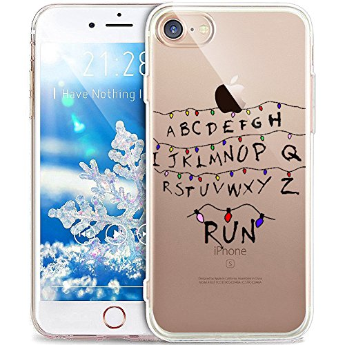 'Carcasa iPhone 6S Plus, Carcasa iPhone 6Plus, Funda iPhone 6S Plus, Funda iPhone 6Plus, ikasus Crystal Clear TPU con ciervos de copo de nieve de Navidad blanco Xmas Christmas Snowflake para i